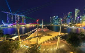 Picture the city, lights, Singapore, lasers, Singapore