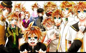 Picture guy, Vocaloid, Vocaloid, blonde, Kagamine Len
