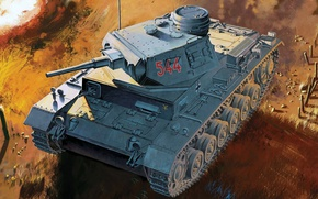Picture figure, Panzerkampfwagen III, German medium tank, Pz.Kpfw.III Ausf.G