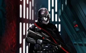Picture weapons, Star Wars, art, helmet, Star wars, Captain Phasma