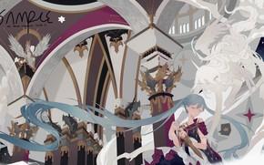 Wallpaper Vocaloid, Fantasy, Hatsune Miku