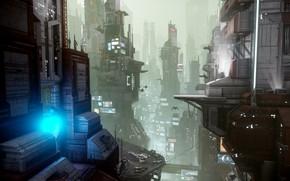Wallpaper Star Citizen, future, the city