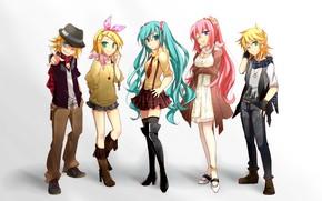 Picture girls, anime, art, guys, Vocaloid, Vocaloid