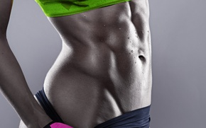 Picture model, female, workout, fitness, Sportswear, abs, perspiration