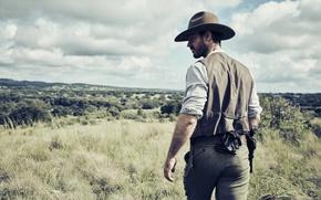 Picture gun, weapon, hat, man, revolver, AMC, tv series, The Son