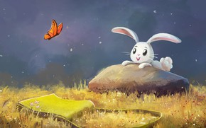 Picture nature, butterfly, Bunny, by aJVL