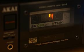 Wallpaper AKAI GX-6, macro, cassette, TDK SA-C90