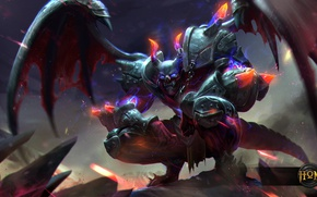 Picture night, wings, monster, the demon, art, hon, Heroes of Newerth, Blood Hunter, Heavy Armor