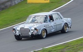Picture retro, race, Mercedes-Benz, classic, SEL 6.3, AMG 300
