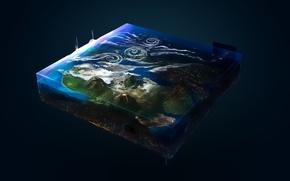 Picture space, Planet, Picture, cube, Panache, digital