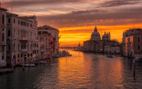 Picture home, Italy, Venice, Cathedral, channel, glow
