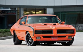 Picture 1969, Orange, Tuning, Muscle car, Pontiac GTO