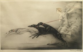 Picture dogs, Speed, 1927, Louis Icart