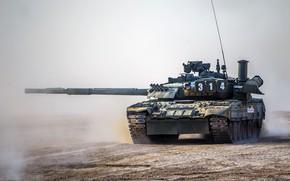 Wallpaper T-80UE1, power, tank