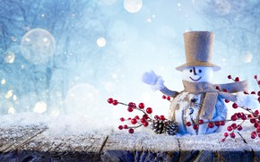 Picture snow, holiday, Board, New year, snow, New Year, Snowman, Christmas decorative