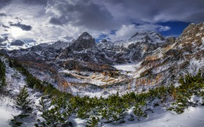 Picture mountains, Alps, Triglav