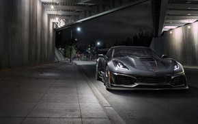 Picture Corvette, Chevrolet, ZR1, front view, 2019