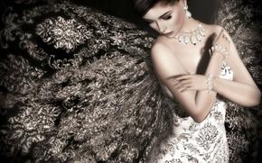 Picture girl, decoration, dress, Lori Novo