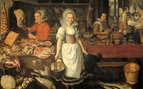 Picture oil, picture, canvas, Peter Cornelis van Rake, The parable of the rich man and Lazarus, …