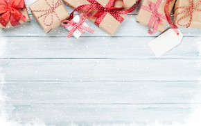 Picture snow, background, holiday, Board, Christmas, gifts, New year, Merry Christmas, New year