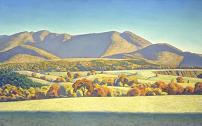 Wallpaper landscape, autumn, Rockwell Kent, Rockwell Kent, picture, Bay Kelly. Mount Jane