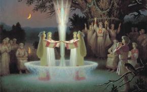 Picture Boris Olshansky, Slavic, 2003, mystery, The night of Ivan Kupala, holiday