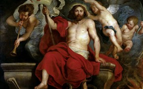 Picture picture, Peter Paul Rubens, mythology, Pieter Paul Rubens, Christ's triumph over Sin and Death
