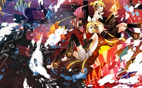 Picture anime, two, Vocaloid, Vocaloid