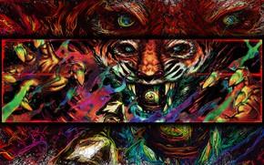 Picture Figure, The game, Tiger, Art, Miami, Tony, Hotline Miami, Tony, Hotline