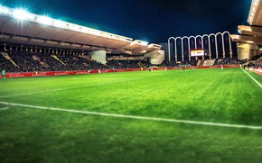 Picture wallpaper, sport, game, stadium, football, match, players, AS Monaco FC, Stade Louis II
