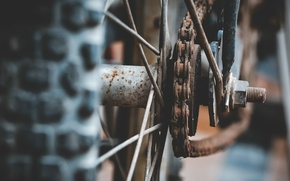 Wallpaper wheel, chain, bike