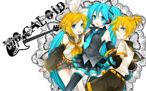 Picture girls, anime, boy, art, friends, Vocaloid, Vocaloid, Hatsune Miku