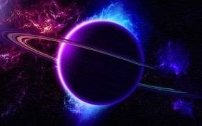 Picture space, planet, ring, space