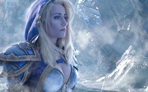 Picture girl, World of Warcraft, Warcraft, cosplay, blonde, Jaina Proudmoore, mahou
