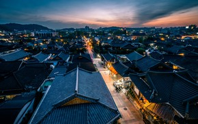 Picture South Korea, Sunset, Jeonju