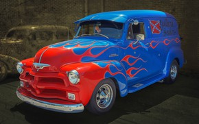 Wallpaper American classic, Chevrolet 3100, truck, pickup