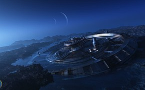Picture planet, construction, stranded, k11, Generation ship Arrival