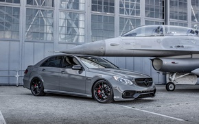 Picture Mercedes, with, E63, Gloss Black, HRE R101