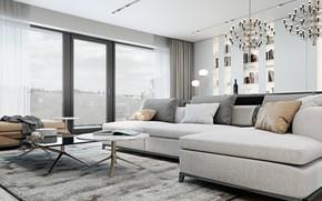 Picture room, interior, living room, Apartment in Brno