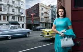 Picture auto, the city, retro, woman, Cadillac, Chevrolet, Impala, Stories