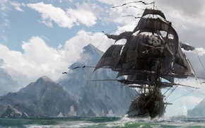 Picture sake, sword, game, pirate, island, ken, pirate ship, blade, ship, evil, kaizoku, Skull and Bones