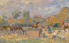 Picture picture, horse, genre, Andre Hamburg, Andre Hambourg, The Lesson Of The Canter