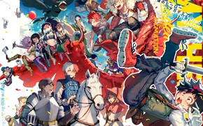 Picture anime, art, characters, costumes, Boku No Hero Academy, My Hero Academy