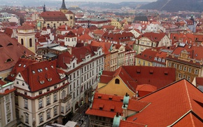 Picture Home, Panorama, Prague, Roof, Building, Prague, Panorama