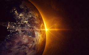 Wallpaper Europe, Spain, planet earth, sun