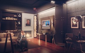 Picture interior, the room, Underground VIP safe house concept