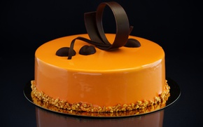 Picture chocolate, cake, decoration, nuts, cake, cream, chocolate, sweet, cream