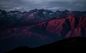 Picture dark, rock, sky, landscape, nature, mountains, scenic, mountain, evening, beauty, dawn, dusk, adventure, majestic, range, …