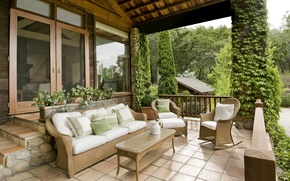 Picture furniture, terrace, country house