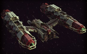 Picture spaceship, aircraft, Peacekeeper Nephthys